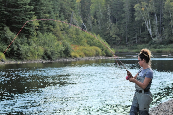 Fly fishing at Umcolcus